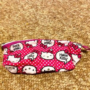 Pink Cute Hello Kitty Zip makeup pouch